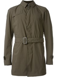 Herno Double Breasted Trench Coat Brown
