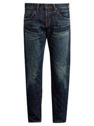 Mastercraft Union Relaxed Tapered Leg Jeans Mid Blue
