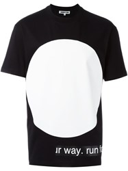 Mcq By Alexander Mcqueen Urban Poetry Print T Shirt Black