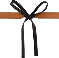Maison Martin Margiela Brown Leather And Black Textile Tie Belt