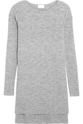 Dkny Ribbed Cotton Blend Sweater Gray