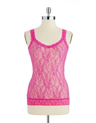 Dkny Patterned Lace Camisole Geo Print