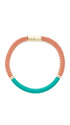 Holst Lee Grand Canyon Collar Necklace Blue Red Gold