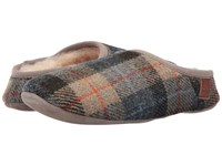 Bedroom Athletics Henry Natural Navy Check Men's Slippers