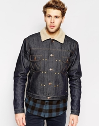 Wrangler Denim Jacket Pleated Borg Fully Lined Dry Denim