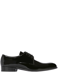 Mr Hare Patent Leather Derby Lace Up Shoes Black