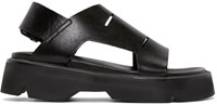 Julius Black Leather Sandals