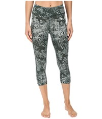 The North Face Pulse Capri Tight Balsam Green Triangle Party Print Women's Capri