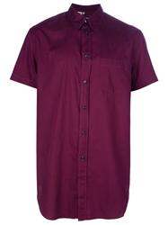 Dolce And Gabbana Vintage Short Sleeve Shirt Pink And Purple