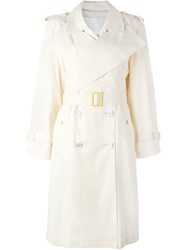 J.W.Anderson J.W. Anderson Wrap Front Trench Coat Nude And Neutrals