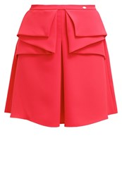 Elisabetta Franchi Pleated Skirt Lampone Red