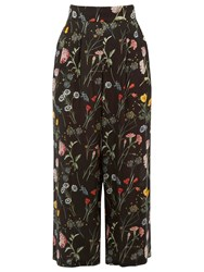 Warehouse Pattern Scatter Floral Culottes Black Pattern
