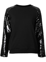 Giamba Sequin Sleeve Sweatshirt Black