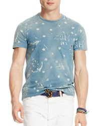 Polo Ralph Lauren Anchor And Star Printed Jersey T Shirt Indigo Prism