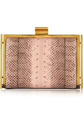Nina Ricci Ecrin Ayers And Leather Clutch