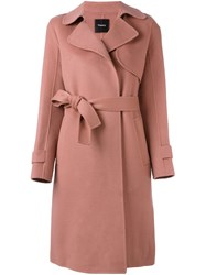 Theory 'Oaklane' Coat Pink And Purple