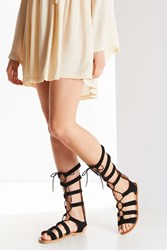 Urban Outfitters Tall Suede Gladiator Sandal Black