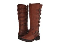 Frye Valerie Belted Tall Cognac Antique Soft Vintage Cowboy Boots Tan