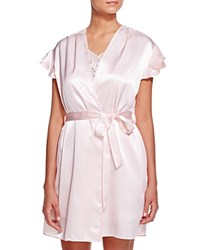 Oscar De La Renta Pink Label Solid Charmeuse Wrap Blush