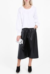 Rachel Comey Faux Leather Culottes Black