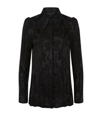 Roberto Cavalli Printed Crushed Satin Shirt Female Black