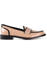 Red Valentino Black Trim Patent Loafers Pink And Purple