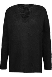 Belstaff Teagan Brushed Wool Blend Sweater Black