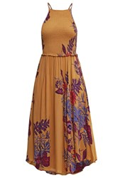 Free People Season In The Sun Slip Summer Dress Mustard Yellow