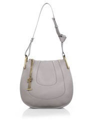 Chlo Hayley Small Leather Hobo Cashmere Grey