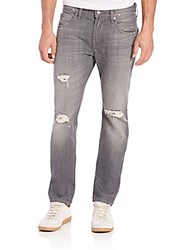7 For All Mankind Paxtyn Clean Pocket Jeans Axiom Grey