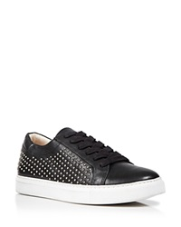 Kenneth Cole Lace Up Wedge Sneakers Kam Studded Black