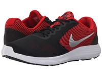 Nike Revolution 3 University Red Black White Metallic Silver Men's Running Shoes