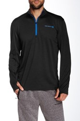 Free Country Half Zip Long Sleeve Pullover Black