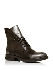 Moda In Pelle Ulm Lace Up Military Style Boots Taupe