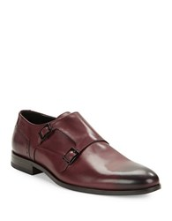 Hugo Boss Molemo Leather Monk Shoes Red