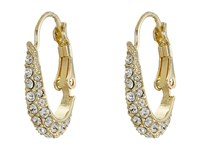 Cole Haan Small Pave Oval Hoop Earrings Gold Crystal Earring