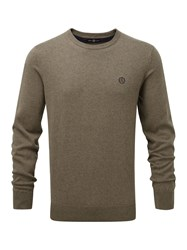 Henri Lloyd Moray Regular Crew Neck Knit Brown