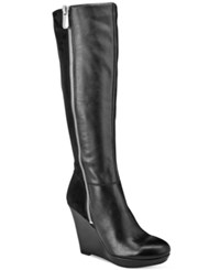 Bar Iii Tristan Tall Boots Only At Macy's Women's Shoes Black