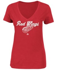 Majestic Women's Detroit Red Wings Match Penalty Glitter T Shirt