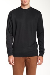 Peter Millar Heather Interlock Crew Sweater Black