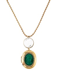Marquis And Camus Vintage Cameo Rose Carved Necklace Green