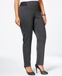 Style And Co. Plus Size Speckled Stretch Waist Dress Pants Only At Macy's