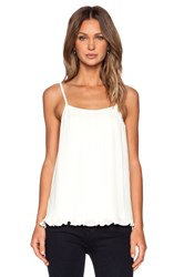 Blaque Label Pleated Tank Top Ivory