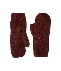 Bula Lina Mitten Burgundy Over Mits Gloves
