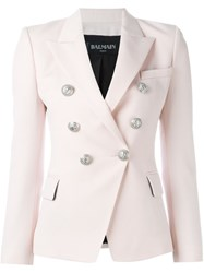 Balmain Double Breasted Blazer Pink And Purple