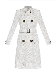 Burberry Floral Macrame Lace Trench Coat