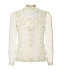 Denim And Supply Ralph Lauren Victorian Lace Blouse Female White
