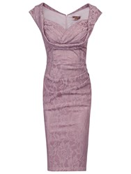 Jolie Moi Crossover Bust Ruched Shift Dress Mauve