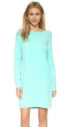 St Olcay Gulsen Long Sleeve Tailored Dress Aqua Blue