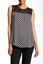 Vince Camuto Sleeveless Polka Dot Blouse Black